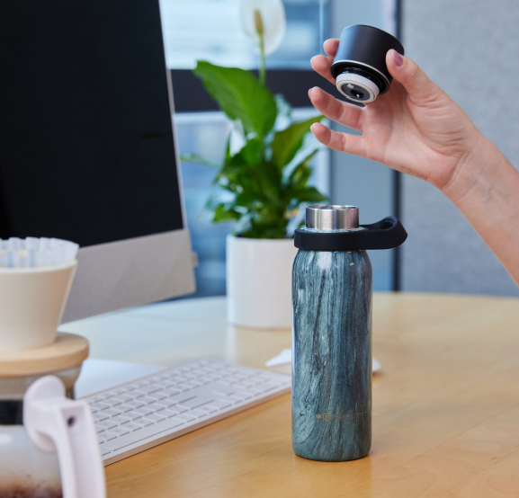 SenPur filtered water bottle for travel